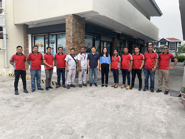 daswell machinery sales team in Philippines