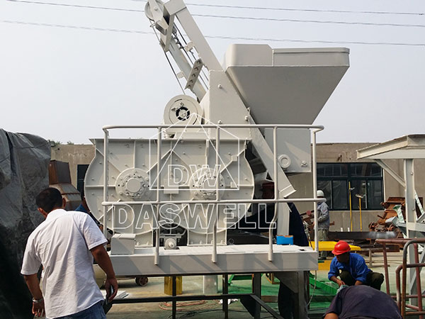 JS500 twin shaft compulsory mixer