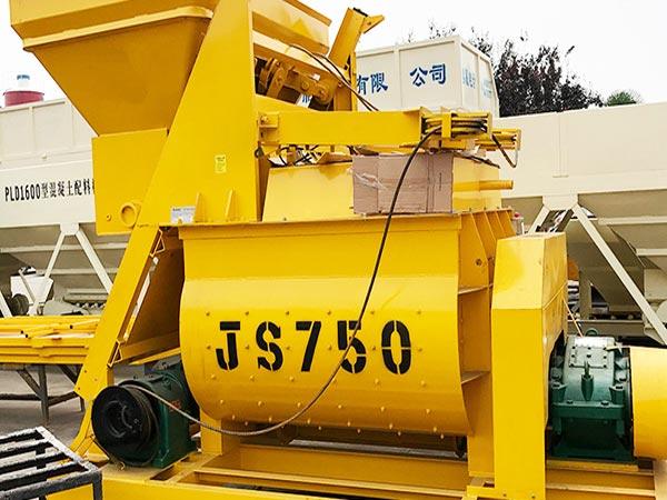 JS750 double shaft mixer