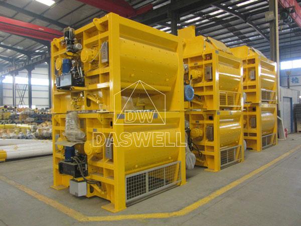many sets of twin shaft batch mixer