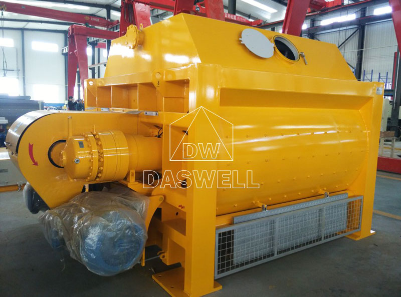 the daswell twin shaft concrete mixer