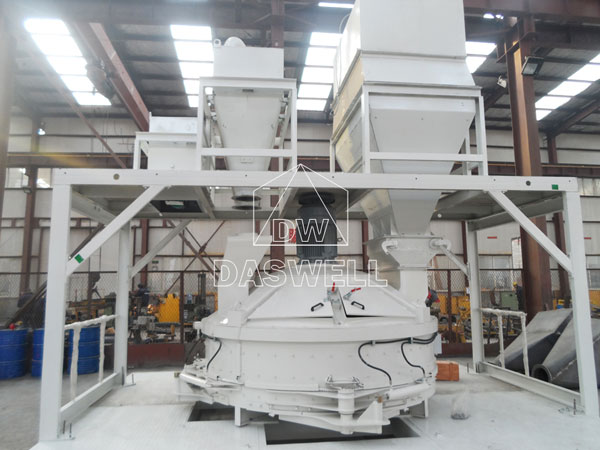 the planetary concrete mixer with platform and hopper