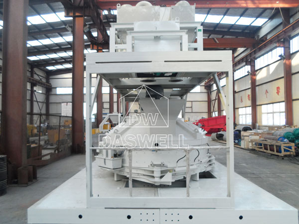 the planetary mixer machine with platform and hopper
