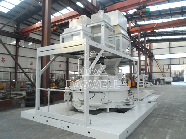 the planetary mixer with platform and hopper