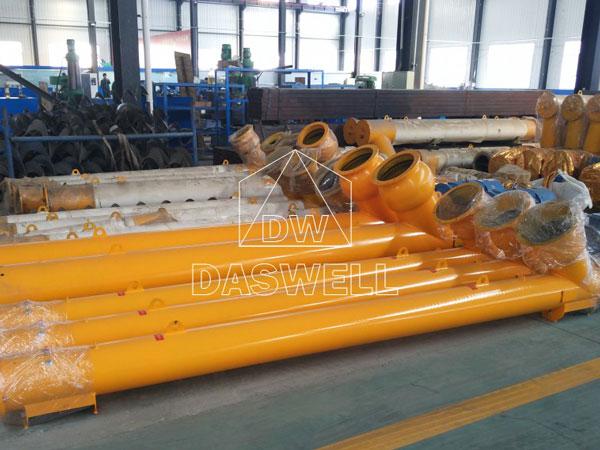 the screw conveyor of twin shaft mixer