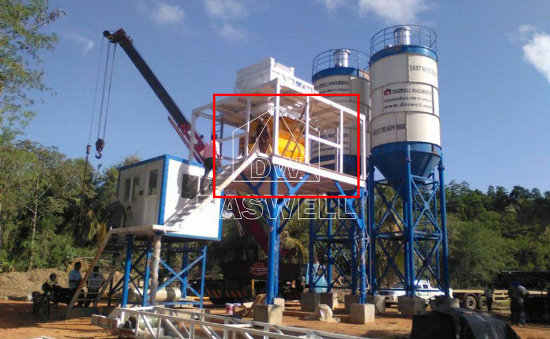 the twin shaft mixer of concrete plant