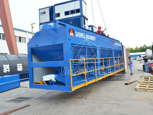 transport the stationary mixing plant