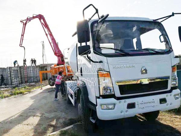 21m pumpcrete truck