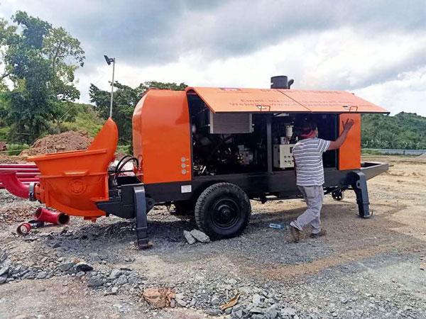 CPD60 mobile concrete pump philippines