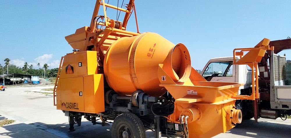 DHBT40 concrete mixer with pump philippines
