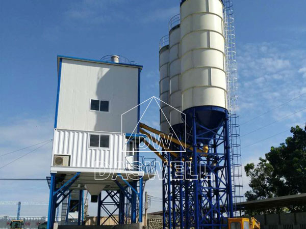 HZS150 batching mixing plant