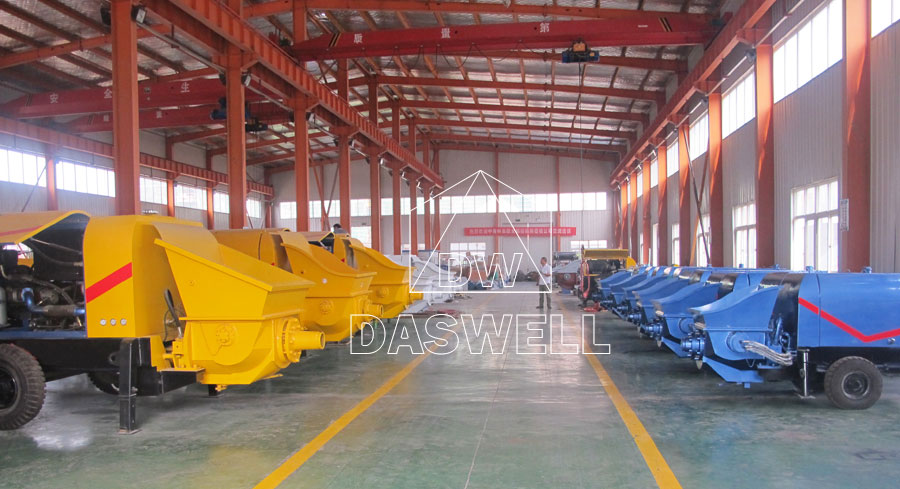 production factory of mobile concrete pump for sale