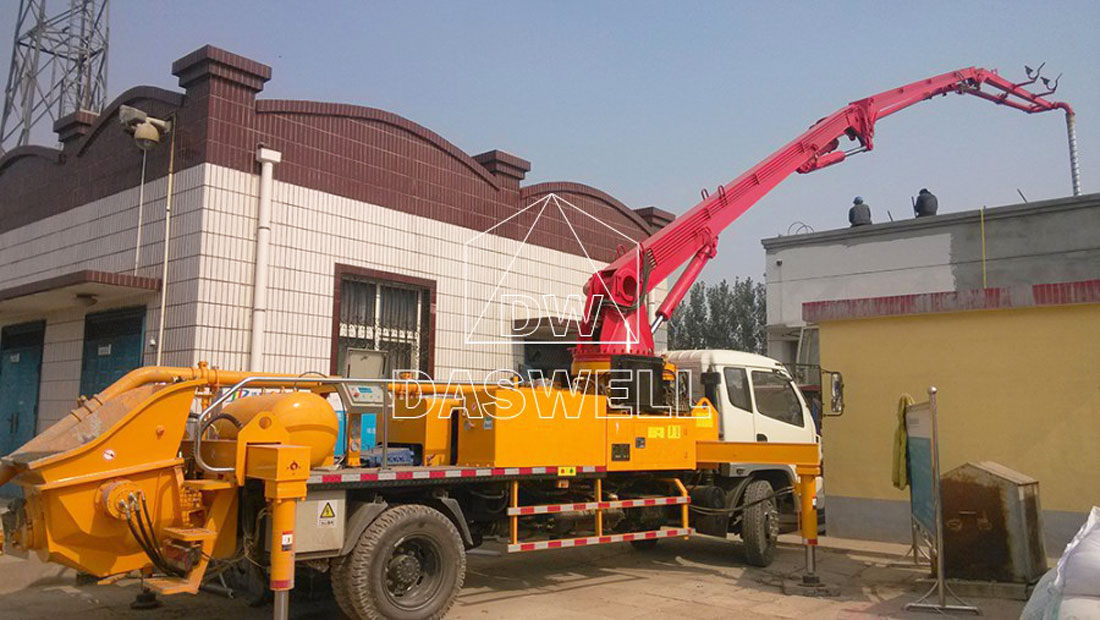 25m pumpcrete truck in working site