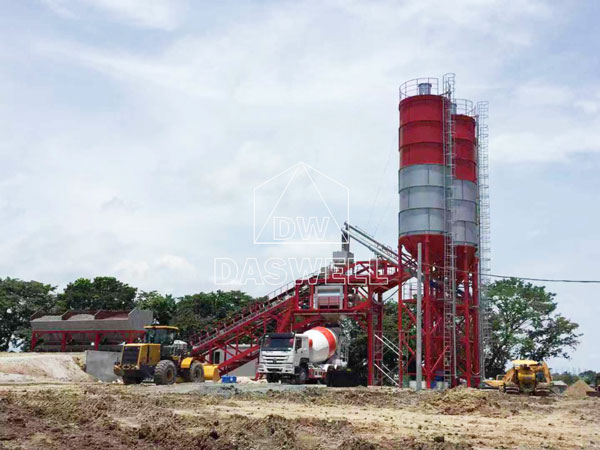 YHZS100 mobile batching mix plant