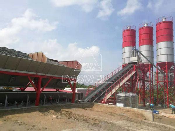 YHZS100 mobile concrete batch mix plant sale