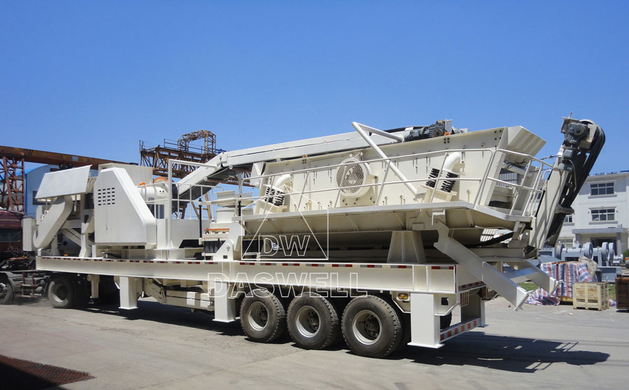 daswell mobile stone crushing plant