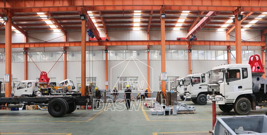 the production factory of pumpcrete