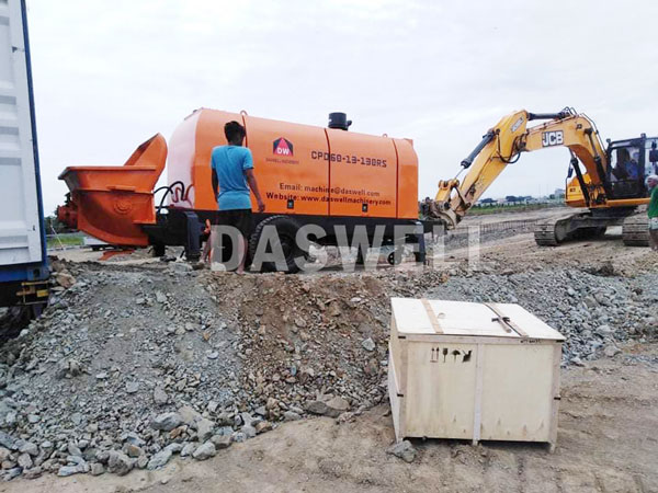 CPD60 trailer concrete pump