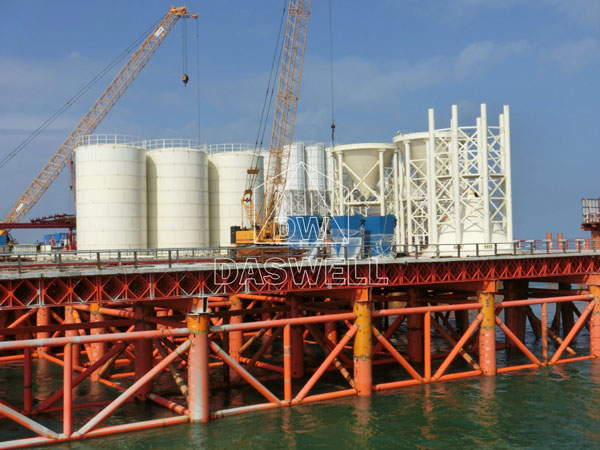 the bolted concrete silo