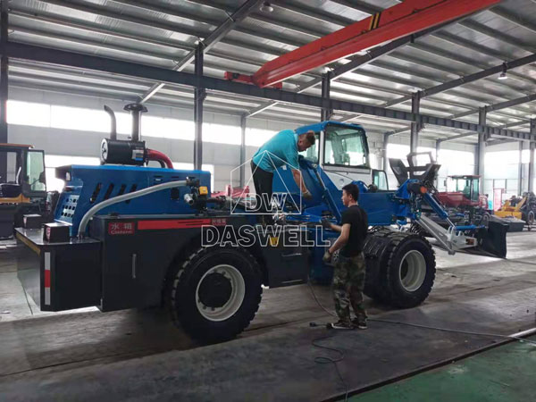 3.5m3 self loading cement mixer