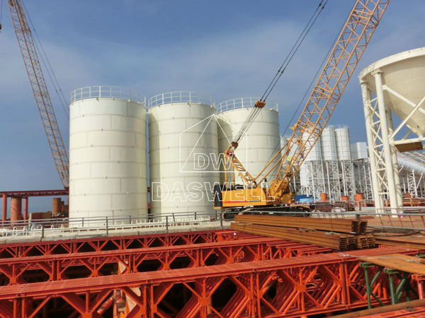the installation of silo